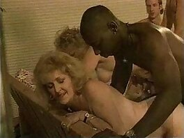 banged-mature-older woman-party